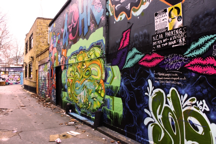 A Brick Lane wall